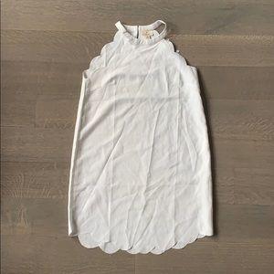 NEVER WORN Nasty Gal White Scallop Dress